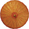 TU22MA-gilded-orange-paper-parasol-umbrella