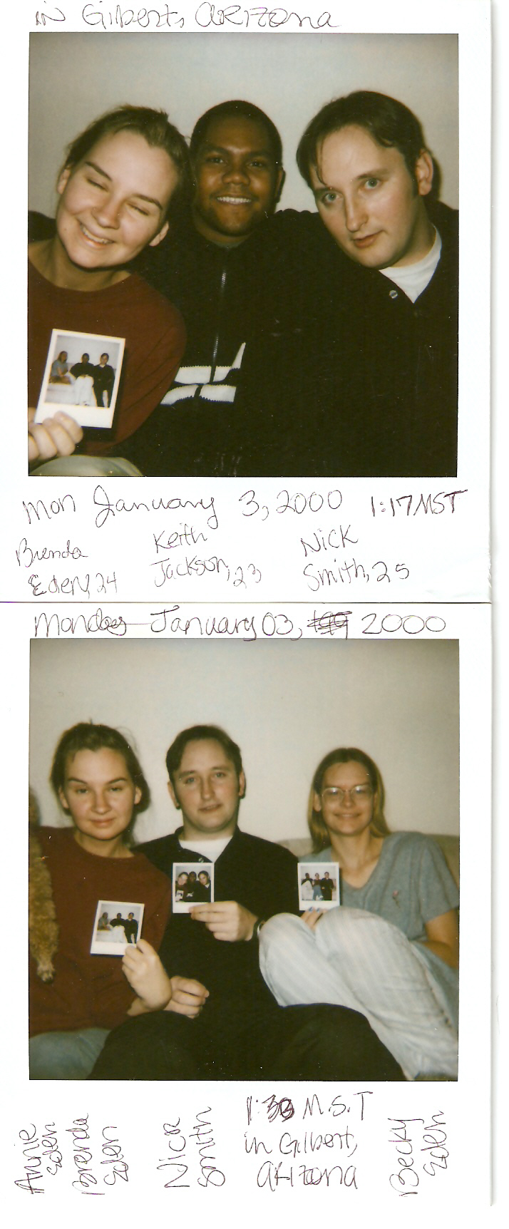 Polaroids from the year 2000